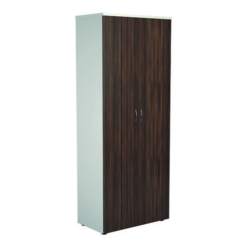 Jemini 2000 Wooden Cupboard 450mm Depth White/Dark Walnut KF811114
