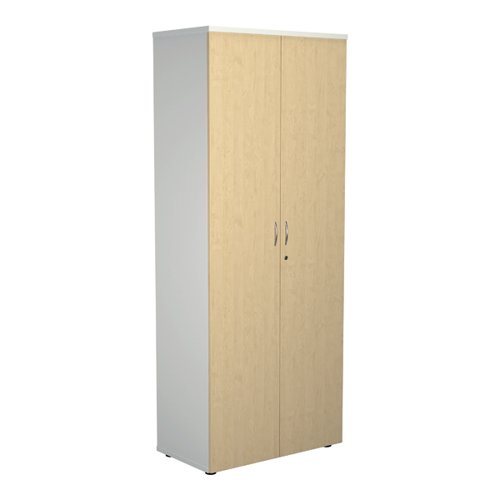Jemini 2000 Wooden Cupboard 450mm Depth White/Maple KF811138