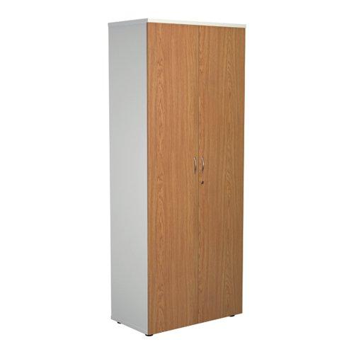 Jemini 2000 Wooden Cupboard 450mm Depth White/Nova Oak KF811145