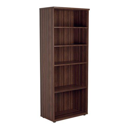 Jemini Wooden Bookcase 800x450x2000mm Dark Walnut KF811152