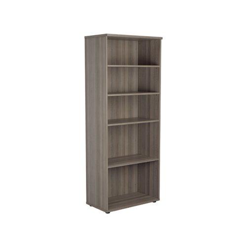 Jemini Wooden Bookcase 800x450x2000mm Grey Oak KF811169