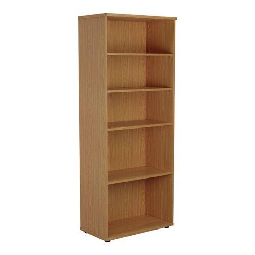 Jemini Wooden Bookcase 800x450x2000mm Nova Oak KF811183
