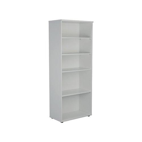 Jemini Wooden Bookcase 800x450x2000mm White KF811190