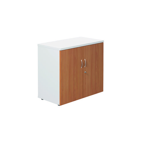 Jemini 700 Wooden Cupboard 450mm Depth White/Beech KF811275