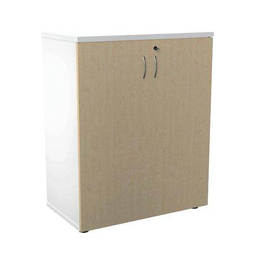 Jemini 700 Wooden Cupboard 450mm Depth White/Maple KF811305