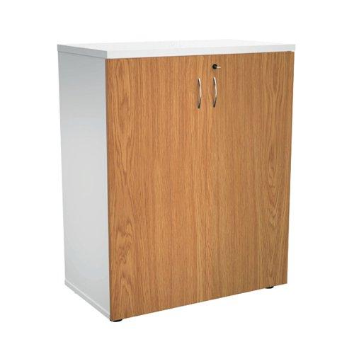 Jemini 700 Wooden Cupboard 450mm Depth White/Nova Oak KF811312