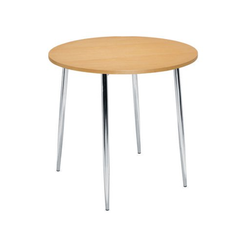Jemini Beech/Chrome 800mm Round Bistro Table KF815146