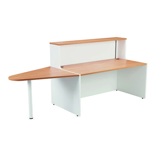 Jemini Reception Unit 1400mm with Extension Beech/White KF816364