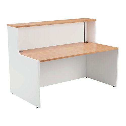 Jemini Reception Unit 1600mm Beech/White KF816387
