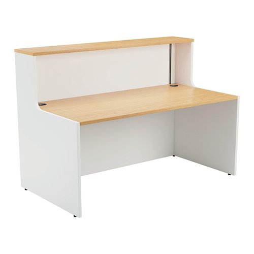 Jemini Reception Unit 1600mm Nova Oak/White KF816394