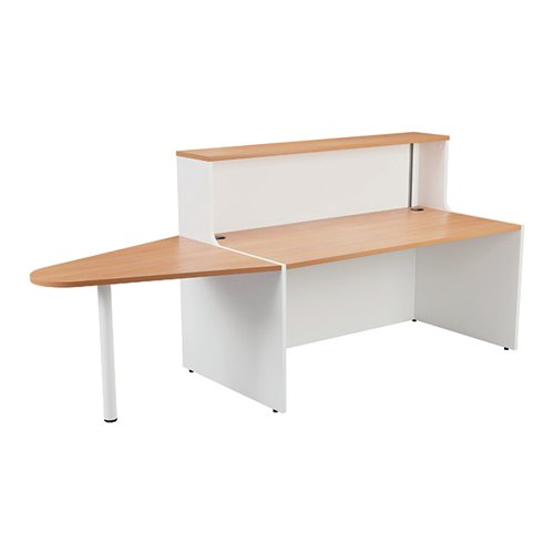 Jemini Reception Unit 1600mm with Extension Beech/White KF816401