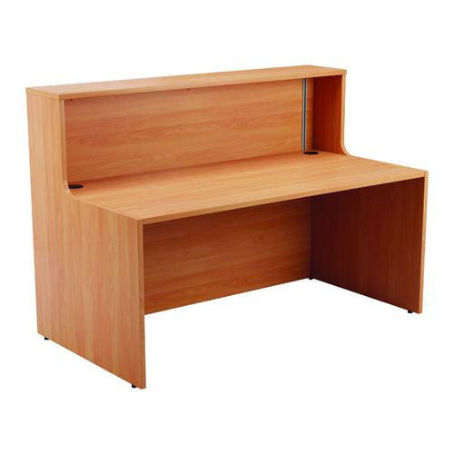 Jemini Reception Modular Straight Base Unit 1600mm Beech KF816449