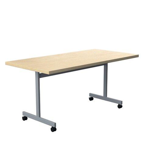 Jemini Tilting Table 1600x700x730mm Maple/Silver KF816504