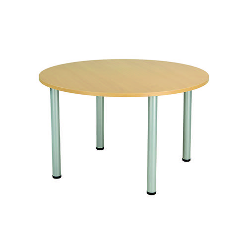 Jemini Circular Meeting Table Nova Oak KF816585