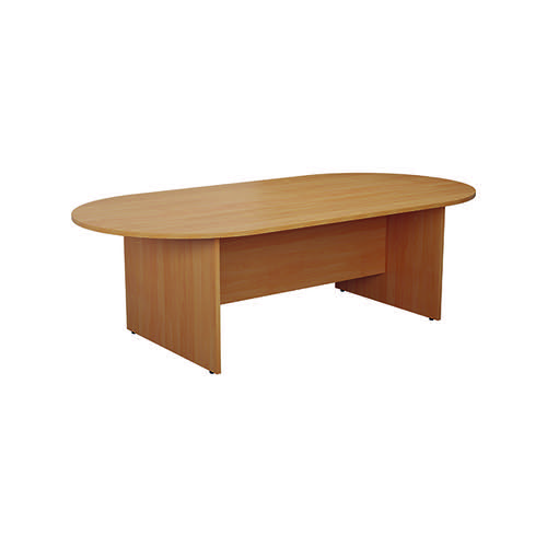 Jemini D-End Meeting Table 2400mm Beech KF816708