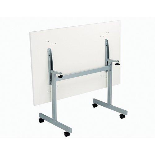 Jemini Rectangular Tilting Table 1200 x 700mm White/Silver KF816760