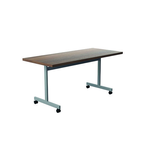 Jemini Tilting Table 1600 x 700mm Dark Walnut/Silver KF816838