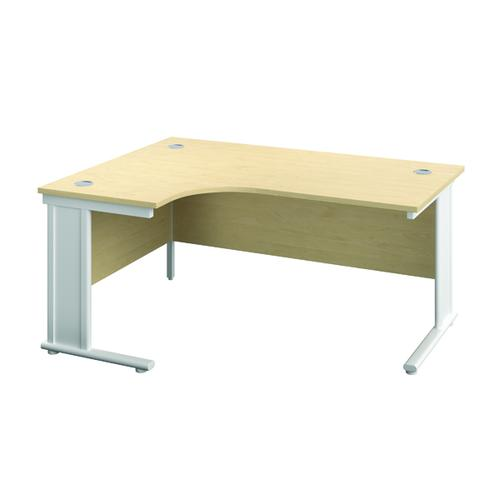 Jemini Cable Managed Left Hand Radial Desk 1200mm Maple/White KF818108