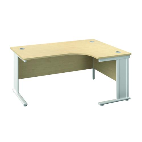 Jemini Cable Managed Right Hand Radial Desk 1200 Maple/White KF818176