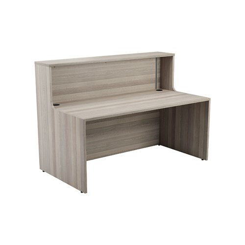 Jemini Reception Unit 1400mm Grey Oak KF818207