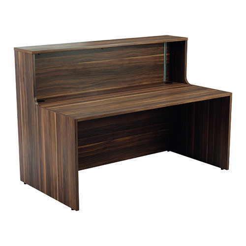 Jemini Reception Unit 1600mm Dark Walnut KF818282
