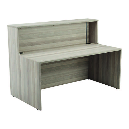 Jemini Reception Unit 1600mm Grey Oak KF818299