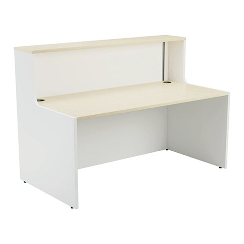 Jemini Reception Unit 1400mm Maple/White KF818381