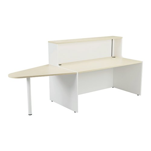 Jemini Reception Unit 1400mm with Extension Maple/White KF818412