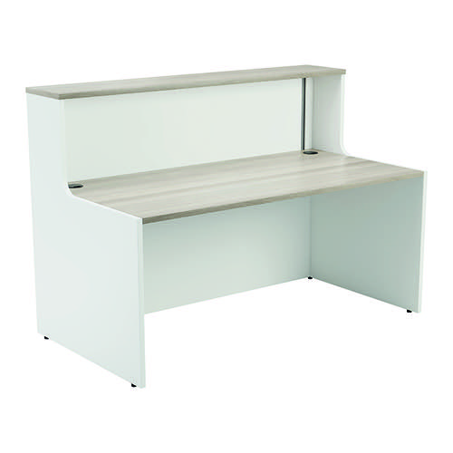 Jemini Reception Unit 1600mm Grey Oak/White KF818436