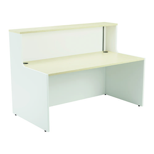 Jemini Reception Unit 1600mm Maple/White KF818443