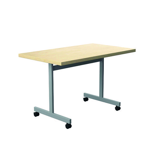 Jemini Rectangular Tilting Table 1200 x 700mm Maple/Silver KF818480