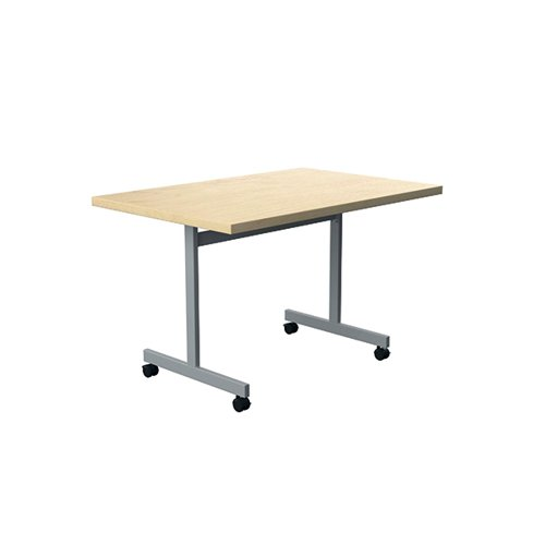 Jemini Rectangular Tilting Table 1200 x 800mm Maple/Silver KF818497