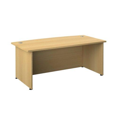 Avior Bow Fronted Executive Desk 2000x900x750mm Nova Oak KF821588