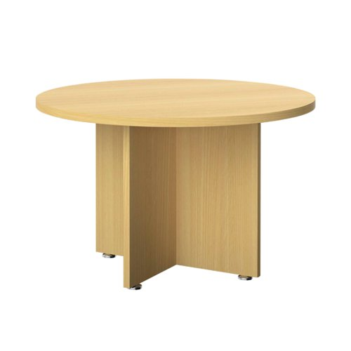 Avior Executive Circular Meeting Table 1200mm Nova Oak KF821878