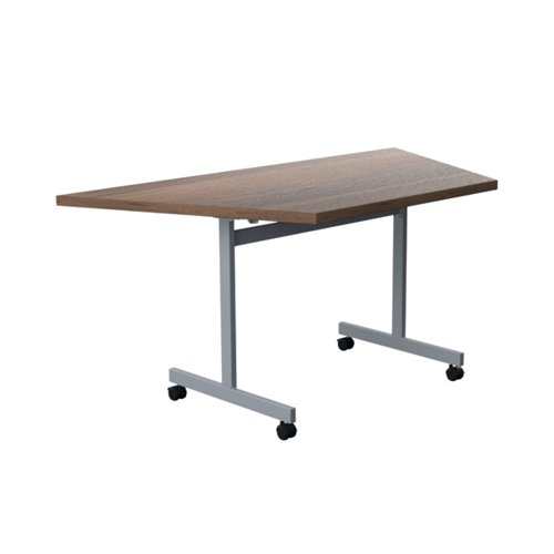 Jemini Trap Tilt Table 1600x800mm Dark Walnut/Silver KF822547
