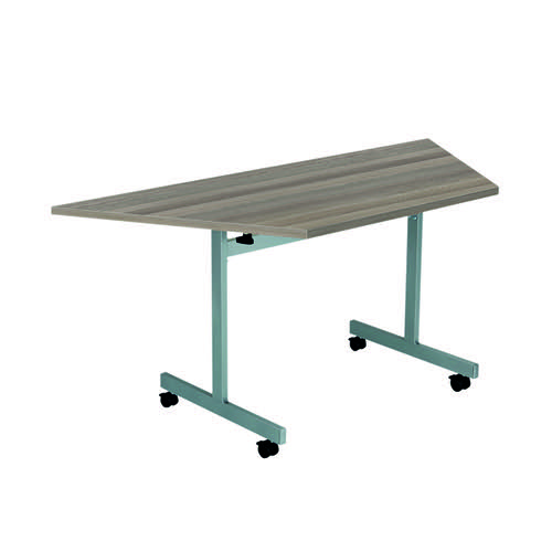 Jemini Trap Tilt Table 1600 x 800mm Grey Oak/Silver OETT1680TRAPSVGO