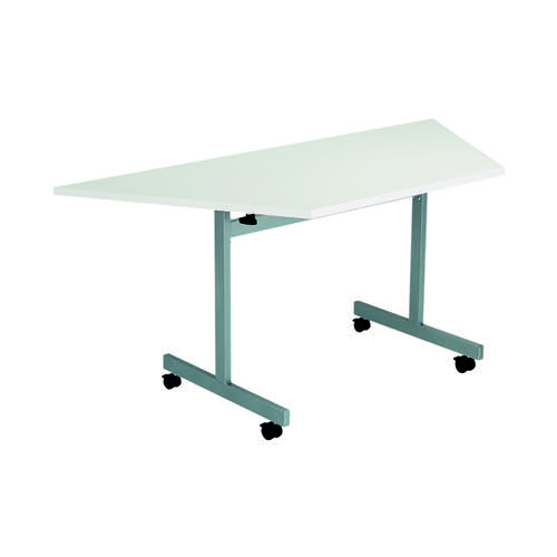Jemini Trap Tilt Table 1600 x 800mm White/Silver KF822585