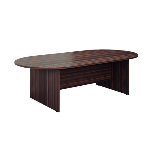 Jemini D-End Meeting Table 1800mm Dark Walnut KF822646