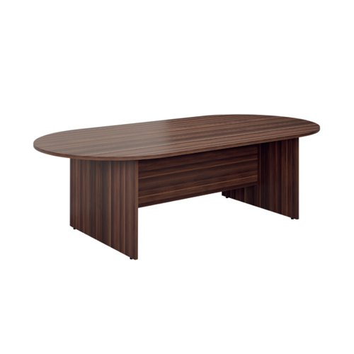 Jemini D-End Meeting Table 1800mm Dark Walnut TK1810DEDW