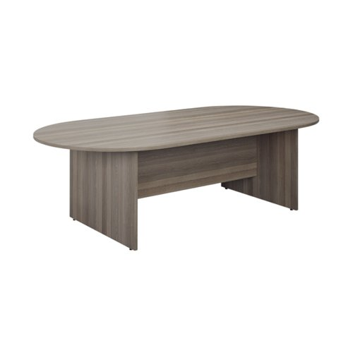Jemini D-End Meeting Table 1800mm Grey Oak TK1810DEGO