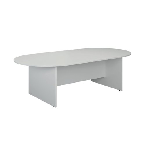 Jemini D-End Meeting Table 1800mm White KF822677