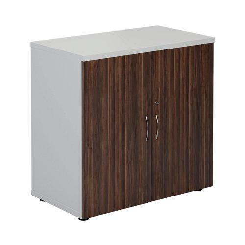 Jemini 800 Cupboard White/Dark Walnut KF822691