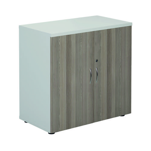Jemini 800 Cupboard White/Grey Oak KF822707