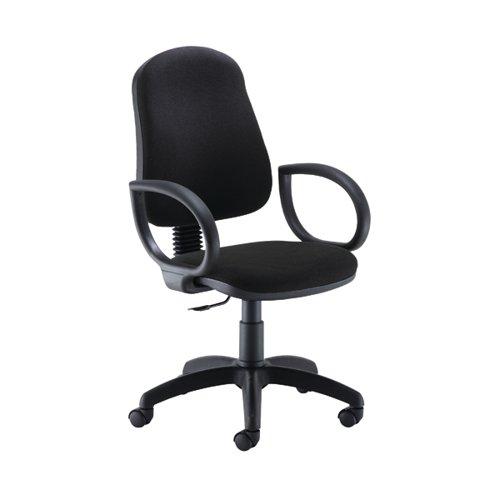 Jemini Teme Medium Back Chair with Fixed Arms 640x640x1010-1140mm Black KF822738