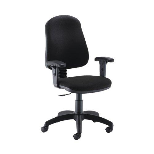 Jemini Teme Mid Back Single Lever Chair Adjustable Arms Black KF822752