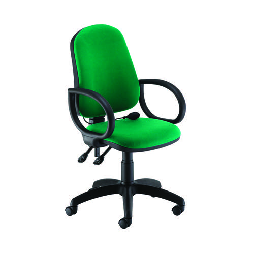 Jemini Intro High Back Posture Chair Fixed Arms Green KF822806