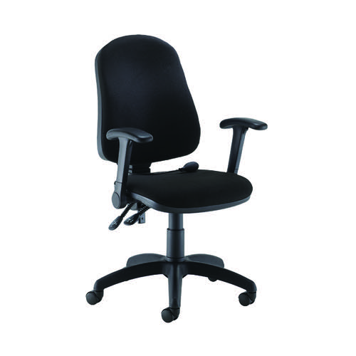 Jemini Intro High Back Posture Chair Folding Arms Black KF822837