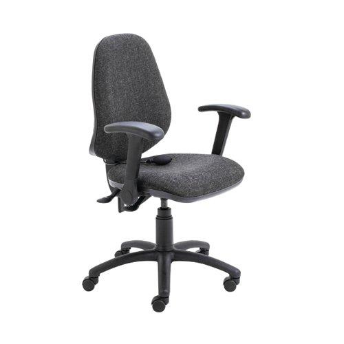 Jemini Intro High Back Posture Chair Folding Arms Charcoal KF822844