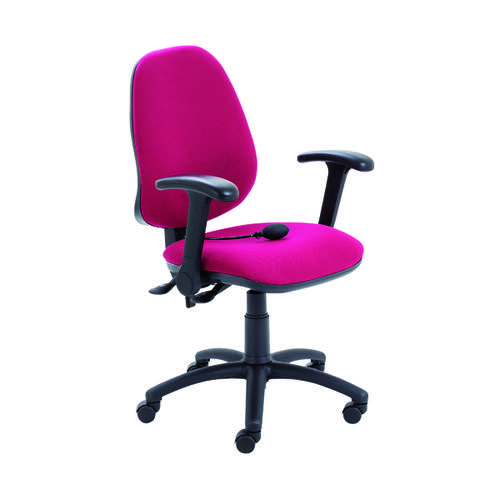Jemini Intro High Back Posture Chair Folding Arms Claret KF822851