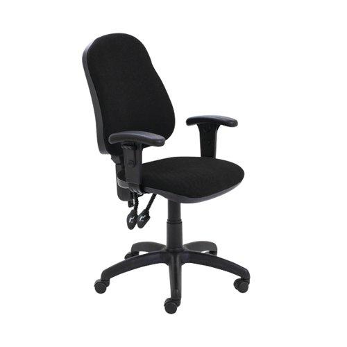 First Calypso Operator Chair Adjustable Arms Black KF822875